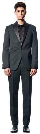 мужской пиджак с блестящим отворотом, трикотажные брюки, теплый свитер из шерсти и хлопка - от марки Sisley